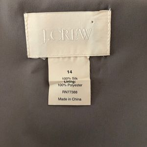 J. Crew Dresses - J.Crew Silk Chiffon Heidi Dress—Graphite (Size 14)